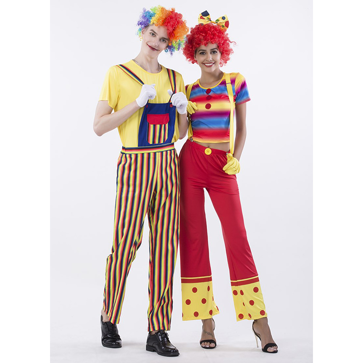 Funny Circus Clown Adult Couple Costume N14769