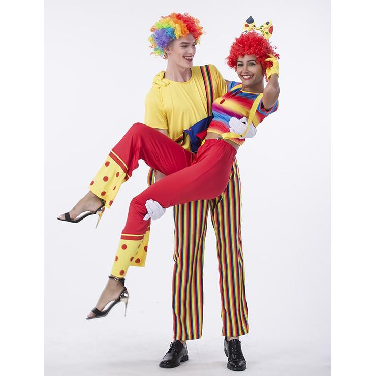 Couple Clown Costume, Clown Cosplay Costume, Clown Costume Couple, Happy Clown Costume, Halloween Couple Clown Costume, #N14769