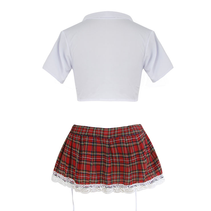 Sexy Adult School Uniform, Sexy Plaid Skirt Suit, Fashion Student Cosplay Lingerie Costume, Sexy Plaid Skirt Lingerie Costume, Sexy School Uniform Lingerie for Women, #N16526