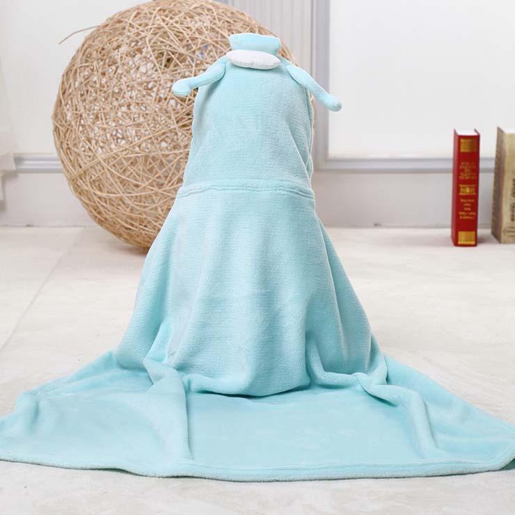 Baby Flannel Hoodie Blanket, Baby Blanket Toddlers Flannel Hoodie Cloak, Lovely Light-Blue Aquarius Baby Blanket, Cheap Soft Flannel Blanket, #N10385