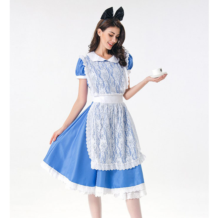 676d79be2c5 Cute House Maid Dress with Lace Apron Adult Halloween Cosplay ...