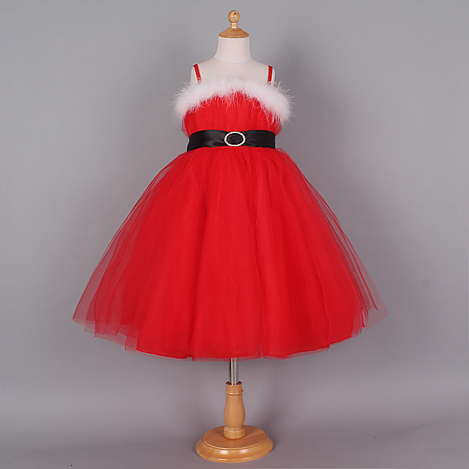 Cute Red Christmas Princess Slip Dress N9656