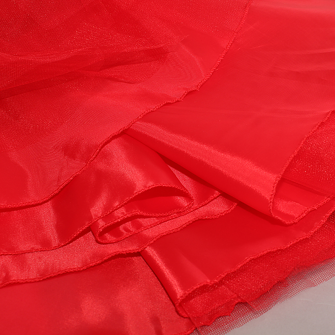 Cute Red Slip Dress, Cheap Christmas Princess Dress, Red Organza Dress  #N9656