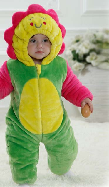 d098f933b Sunflower Costume For Baby   Colorful Two-way Zipper Design Baby ...