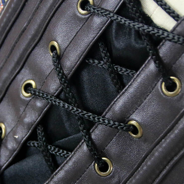 Heavy Steel Boned Corset, Cheap Outerwear Corset, Halloween Warrior Corset, Faux Leather Corset, Plus Size Corset, Punk Jacquard Corset, #N12821
