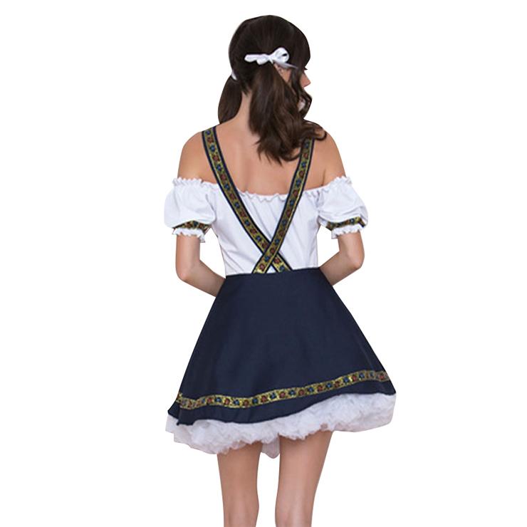 Classical Beer Girl Oktoberfest Costume, Adult Germany Beer Girl Costume, Bavarian Oktoberfest Costume for Women, Bavarian Beer Girl Adult Costume, Adult Bar Waitress Cosplay Costume,,#N18246