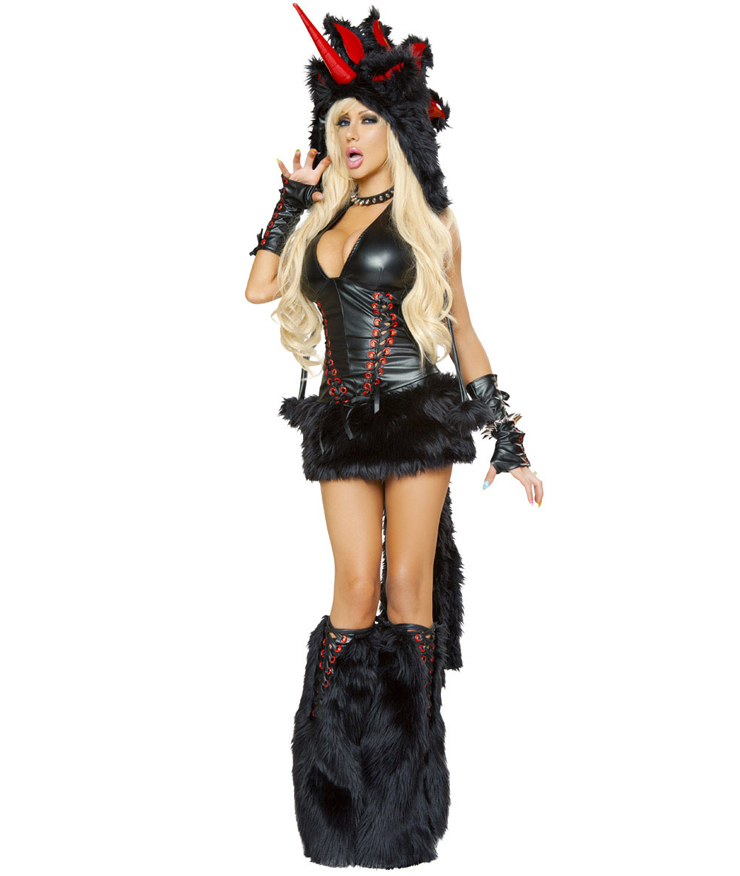 Deluxe Black Magic Unicorn Costume N4612