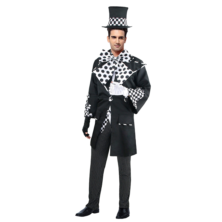 Deluxe Dark Mad Hatter Adult Costume, Dark Mad Hatter Costume, Costumes for Men, #N4785