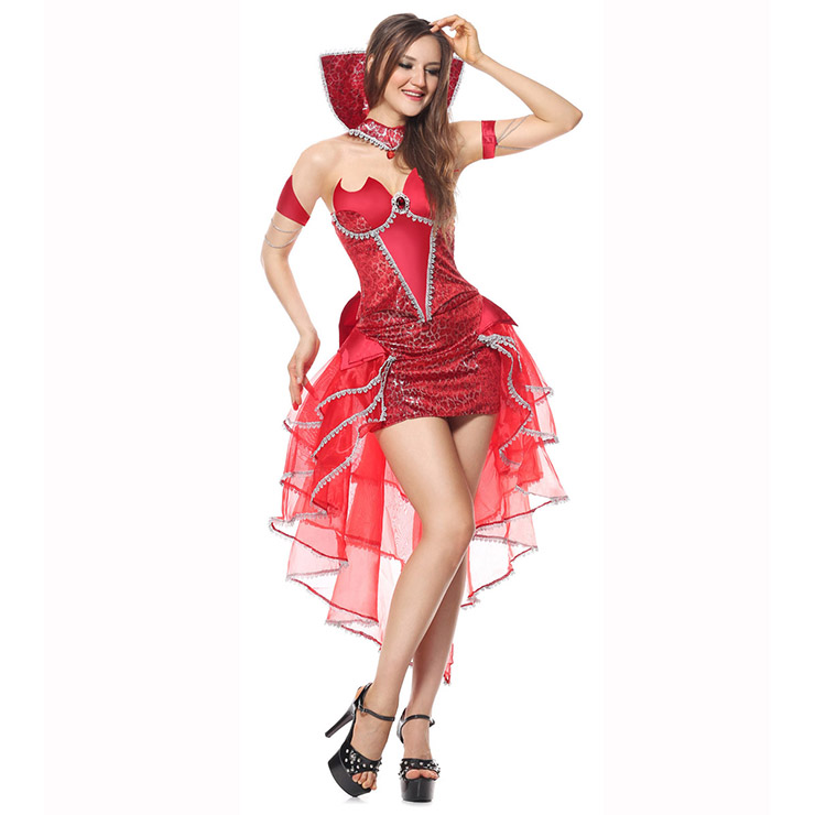 Deluxe Delightfully Devilicious Costume, Deluxe Devilicous Costume, Deluxe Devil Costume, Red Devil Costume, #N6215