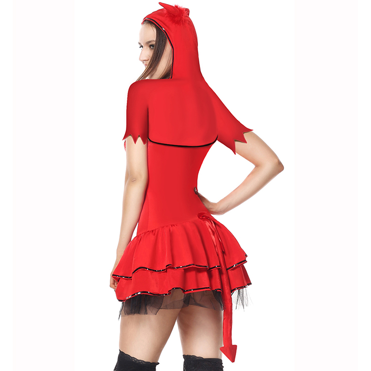 Deluxe Devil Costume, Devil Body Shaper Costume, Devil Corset Costume, Sexy Koakuma Red Costume, Nitty Devil Costume, Sexy Devil Halloween Costume #N5909