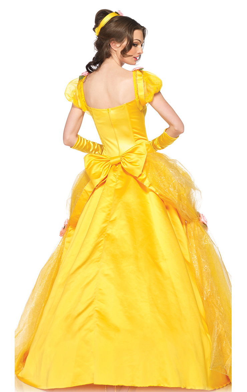 Deluxe disney belle costume n5943 - Robe princesse disney adulte ...