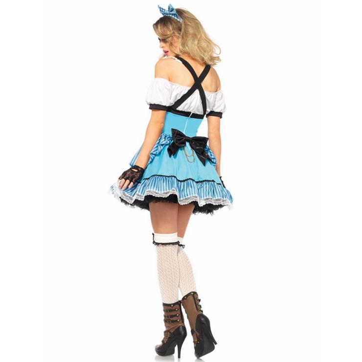 Deluxe Fantasy Alice Costume, Deluxe Alice Costume, Womens Sexy Alice Costumes, Rebel Alice Fancy Costume, #N11909