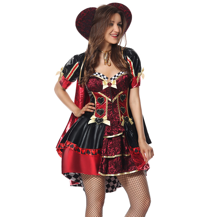 Deluxe Heartless Queen Costume, Heartless Queen Royal Body Shaper Costume, Queen Costume, Alice In Wonderland Queen Of Heart Costume, Deluxe Adlut Pantomine Queen Of Heart Costume#N5975