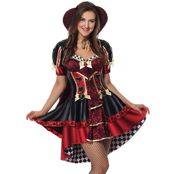 Deluxe Heartless Queen Costume, Heartless Queen Royal Body Shaper Costume, Queen Costume, Alice In Wonderland Queen Of Heart Costume, Deluxe Adlut Pantomine Queen Of Heart Costume#N5975