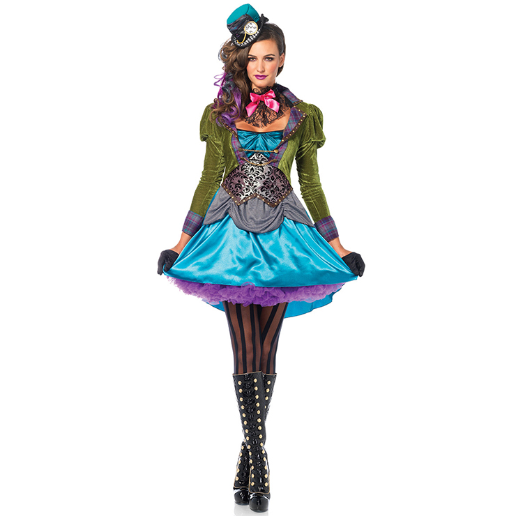 Women's Mad Hatter Alice Wonderland Costume N12599