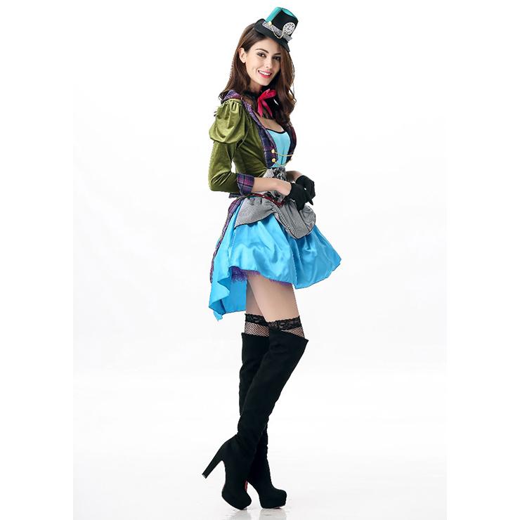 Tea Party Alice Costume, Charming Alice Costume, Alice In Wonderland Adult Costume, Women