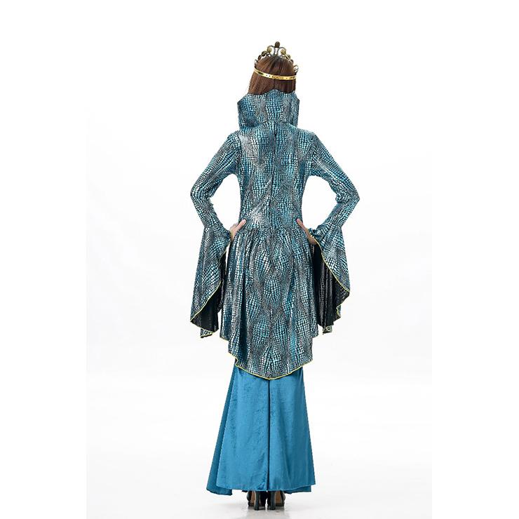 Deluxe Evil Queen Costume, Deluxe Blue Queen Costume, Medieval Costume, Mermaid Costume, King and Queen Costume, Sea Queen, #N11689