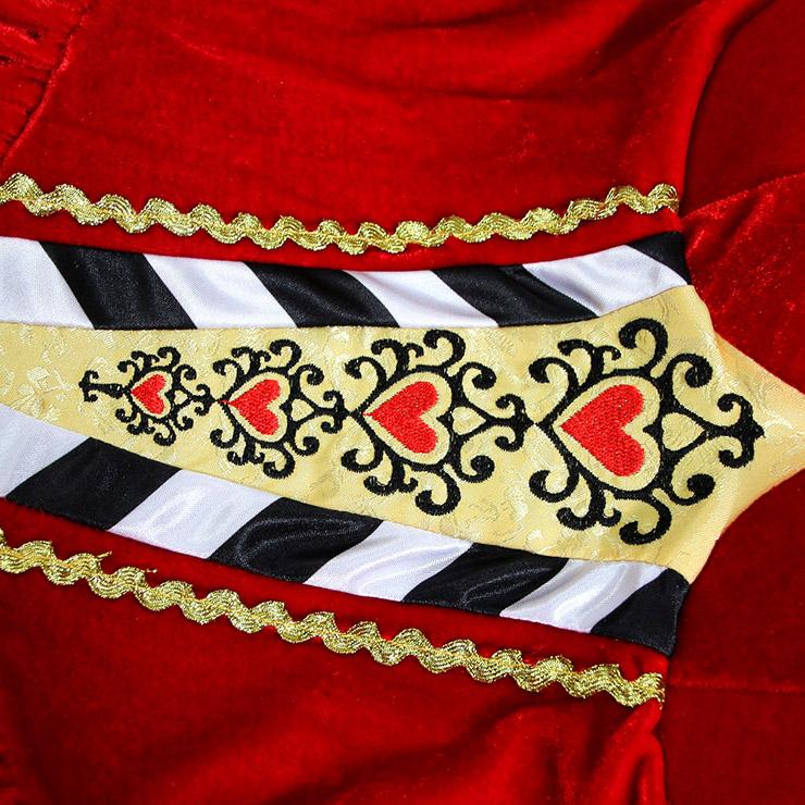 Deluxe Queen Of Hearts Costume, Deluxe Alice In Wonderland Costume, Queen Of Hearts Halloween Costume, Queen Of Heart Circus Costume, Deluxe Sexy Queenn Costume, Adult Pantomine Queen Of Heart Costume#N6200