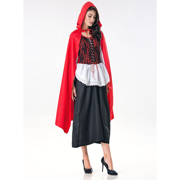 Sexy red riding hood halloween costume