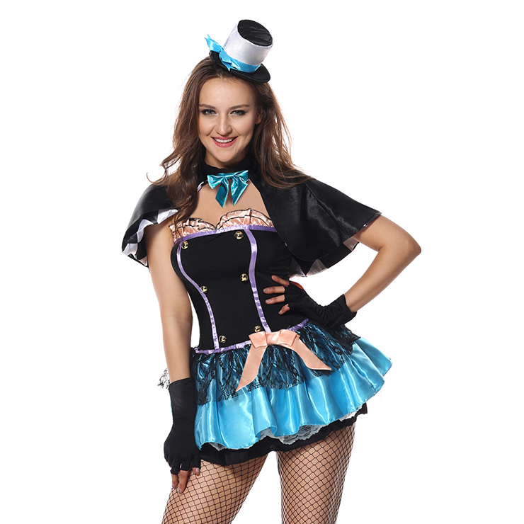 f16387f70ee Women's Tea Time Lake Blue Hatter Overbust Mini Dress Role Play ...