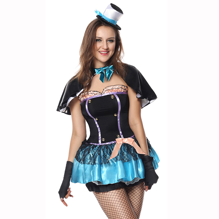 Deluxe Tea Time Mad Hatter Costume, Deluxe Hatter Costume, Deluxe Halloween Costumes, Adult Pantomine Alice In Wonderland Hatter Costume, Circus Hatter Adult Costume#N4419