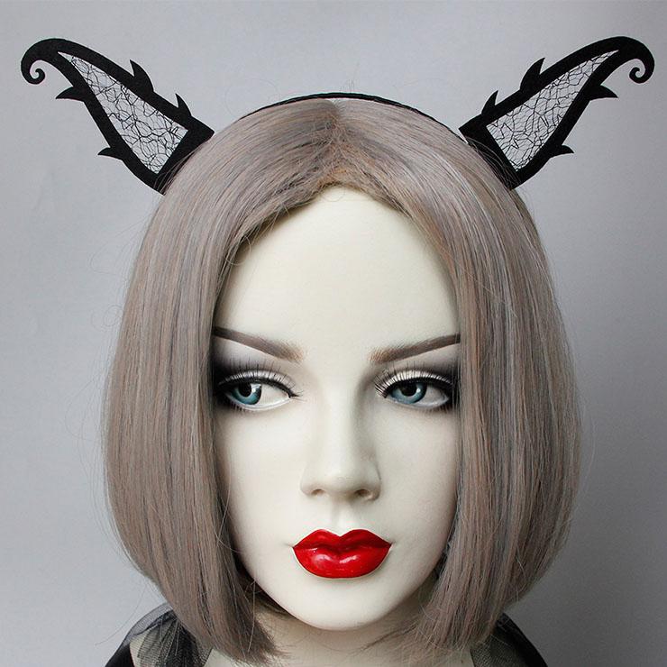Sexy Black Monster Horns Halloween Party Nightclub Cosplay Anime Decorations Headband J21530