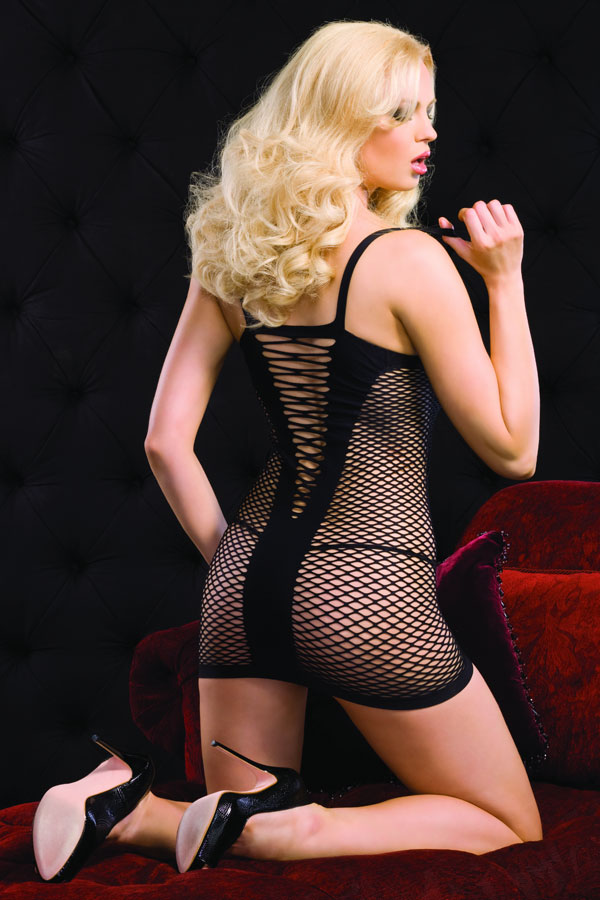 Bodystockings, Sexy Bodystockings, Diamond net mini dress, #BS2665