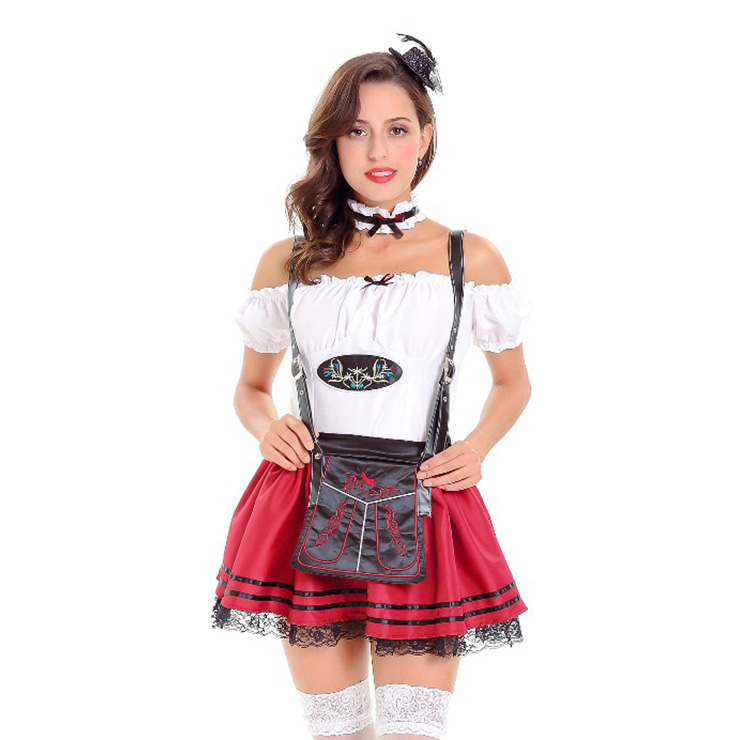 Women s Dirndl Beer Maid Bavarian Oktoberfest Costume N14626 347a7f090b7e