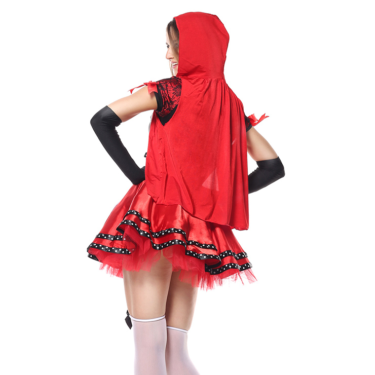 Riding Hood And Wolf Couples Costume, Little Red Riding Hood and Wolf Couples Costume, Halloween Couples Costume, #N5102