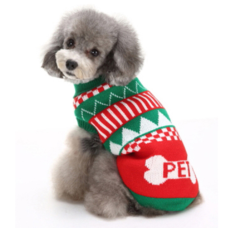puppy dog christmas sweater jerseys n12372
