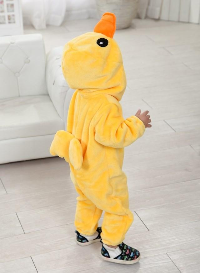 Yellow Duck  Romper Jumpsuit Baby, Halloween Duck Costume Baby, Baby Big Yellow Duck Climbing Clothes, #N6272