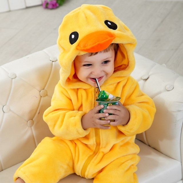 Double Big Yellow Duck Climbing Clothes N6272
