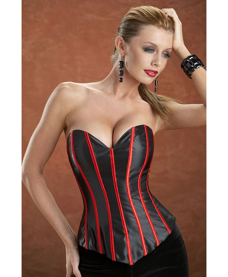 Double Lace Up Back Corset N2775 on product color fashion
