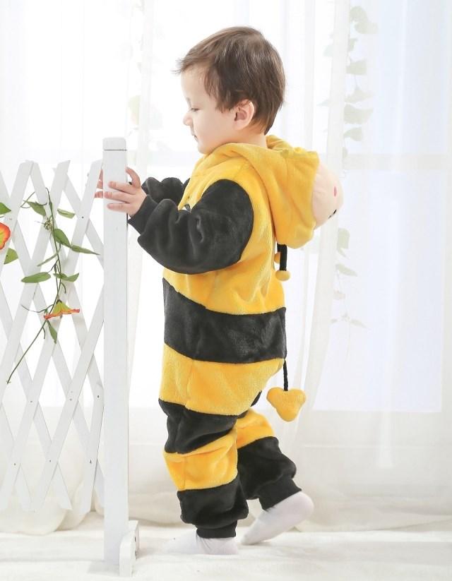 Bee Jumpsuit Romper Baby, Halloween Bee Costume Baby, Little Bee Climbing Clothes baby, #N6290