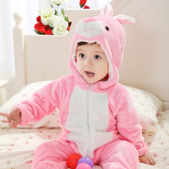 double little pink rabbit jumpsuit n6276