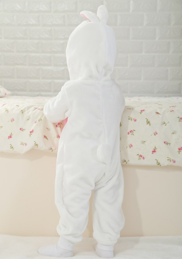 White Rabbit Romper Jumpsuit Baby, Halloween Rabbit Costume Baby, Baby Rabbit Climbing Clothes, #N6274