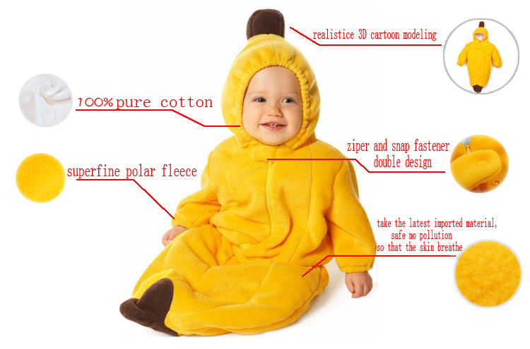 4ede19328 3 Layers Polar Fleece Banana Sleeping Bag N5788
