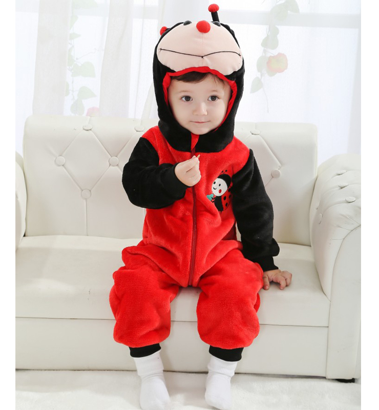 Double Red Ladybug Romper N6293