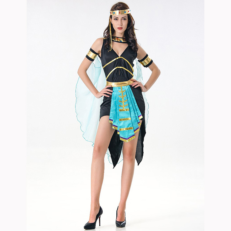 Classical  Egyptian Queen Dress Halloween Party Adult Cosplay Costume N17105