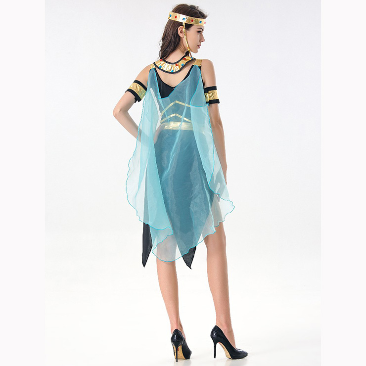Black/Gold Egyptian Queen Costume, Classical Egyptian Queen Halloween Costume, Sexy Black Egyptian Queen Dress Costume, Egyptian Queen Masquerade Costume, Egyptian Queen Halloween Adult Cosplay Costume, #N17105