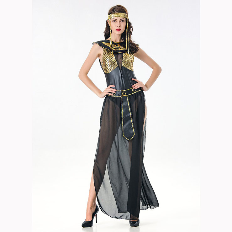 Classical 4Pcs Egyptian Queen Halloween Party Adult Role Play Costume N17106