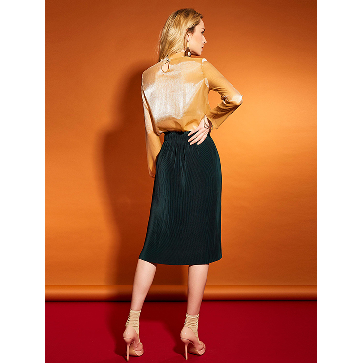 Sexy Skirt for Women, Sexy Skirts, Knee Length Skirt, Mid-Waist Skirt, Women Skirts, Elastic Waist Skirt, OL Skirts, #N14925