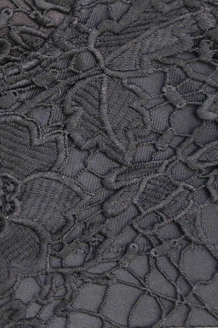 Black Strap Bustier Bra, Crop Top Lace Camisoles Bra, Floar Lace Bustier Bra, #N8595