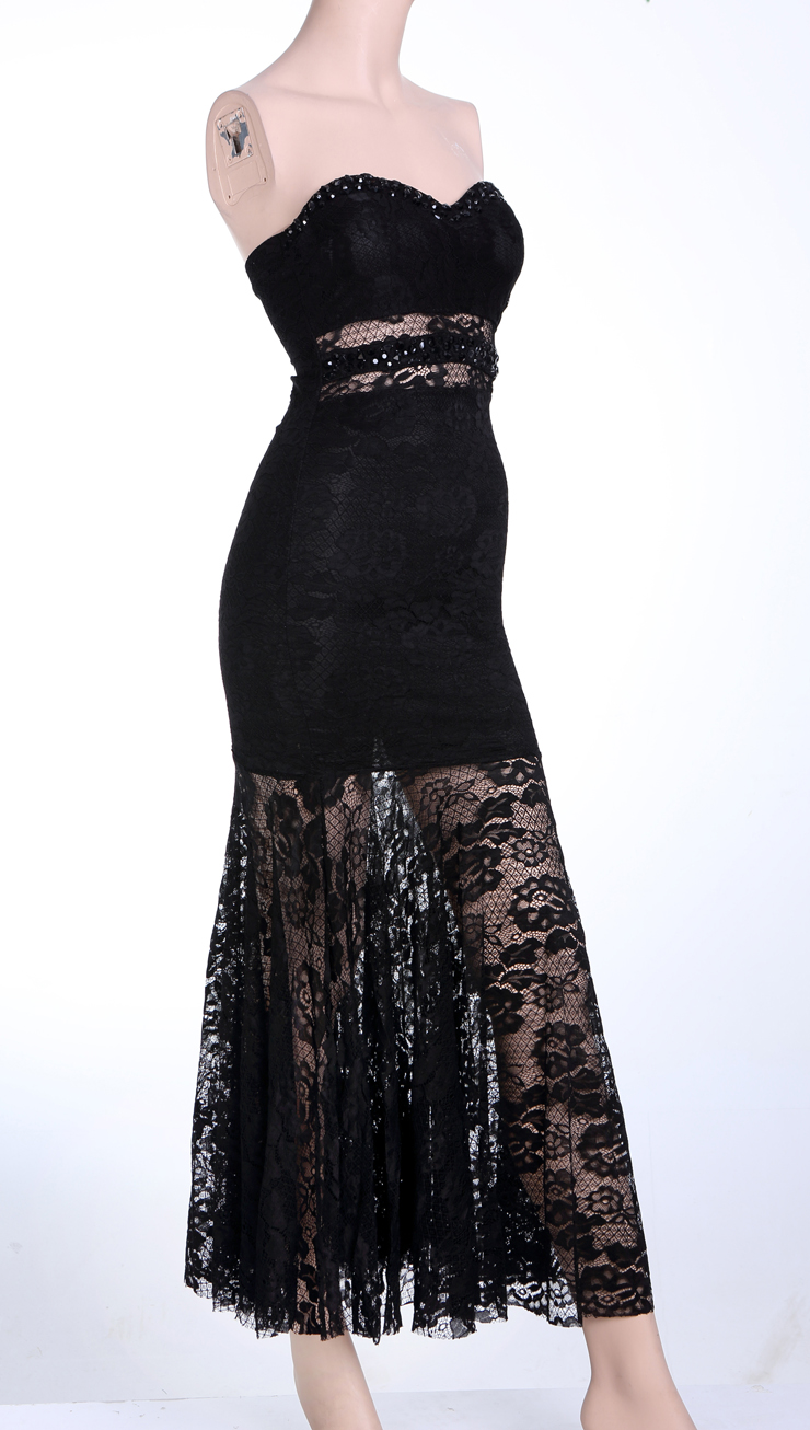 elegant black lace dresses - photo #13