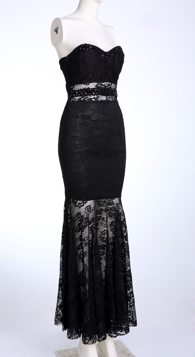 elegant black lace dresses - photo #3