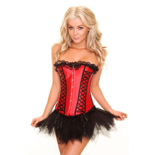 red corset&Pettiskirt Set N6150