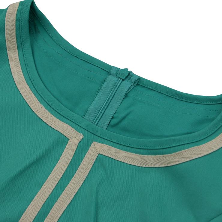 Vintage Dresses for Women, Party Dress, Midi Dresses, Swing Dresses, Round Neck Dress, #N14397