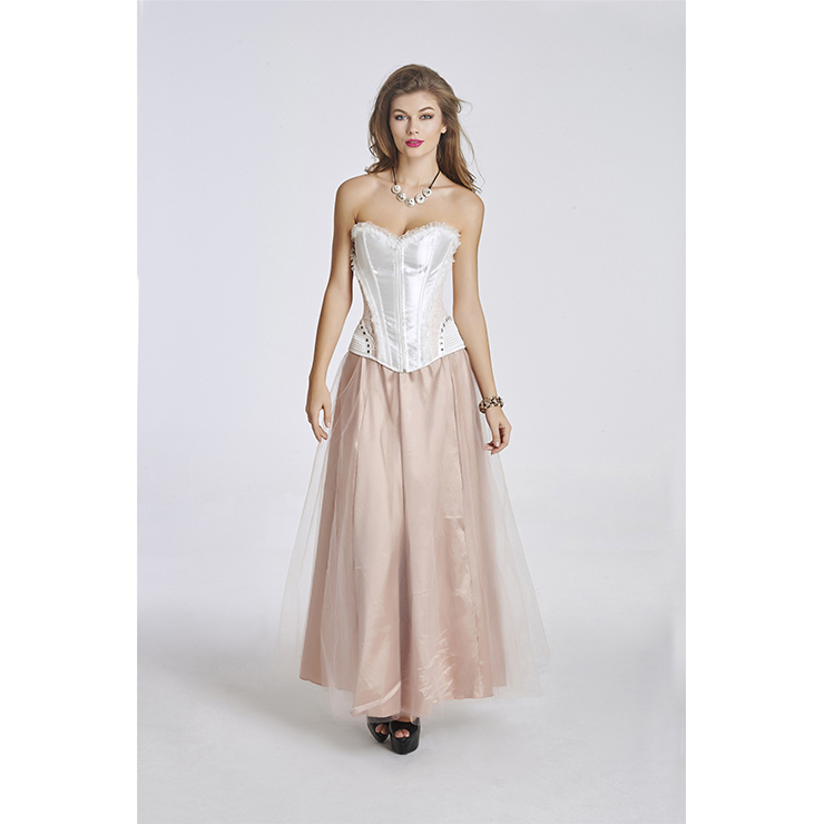 Corset and Skirt Set, Plus Size Skirt Set with Corset, Fashion Corset and Petticoat for Women,  #N11348