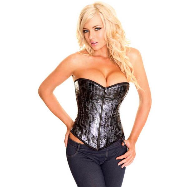 c0e065a74b Elegant Snake skin pattern corset N2567