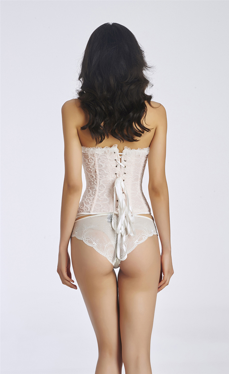Sexy Corset Bustier Top, Cheap White Corset for Women, Elegant Adult Bride Costume, Womens Corset for Wedding, #N11318